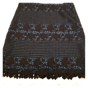 LOFT size 4T Layered Black and Blue Lace Skirt